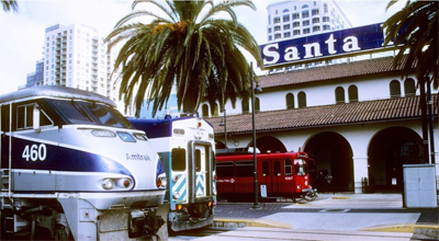The San Diego rail station